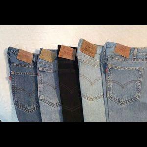 5 PR Levi Strauss & Company Denim 505 Men's Jeans
